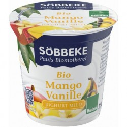 JOGURT MANGO / WANILIA BIO 150 g - SOBBEKE