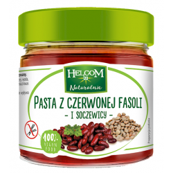 PASTA Z CZERWONEJ FASOLI I SOCZEWICY 190 g - HELCOM