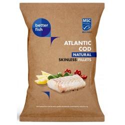 DORSZ ATLANTYCKI FILET BEZ SKÓRY MROŻONY 500 g - BETTER FISH
