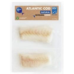 POLĘDWICA Z DORSZA ATLANTYCKIEGO BEZ SKÓRY MROŻONA (2 X 125 G) 250 G - BETTER FISH